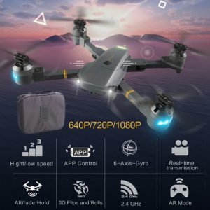 Lensoul XT-1 Quadcopter 2.4GHz 6 axis gyro 1080P 120 degree camera LED lighting fixed