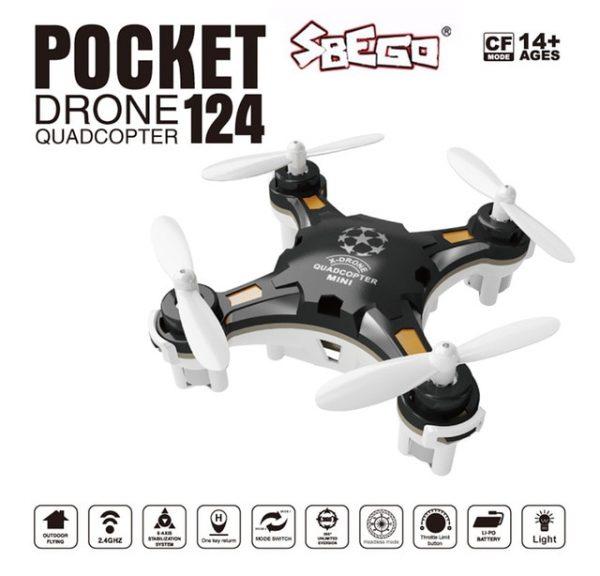 SBEGO FQ777-124 Mini Drone Kit Micro Pocket Controller